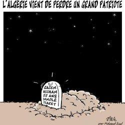 L'Algérie vient de perdre un grand patriote Gacem Hicham
