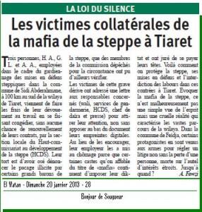 LA LOI DU SILENCE dans EL WATAN la-mafia-de-la-steppe-286x300