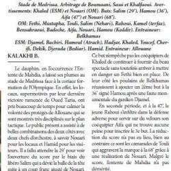 O. Medrissa 4 – ES Mahdia 0 Trop lourd pour un dauphin -KALAKHI B.