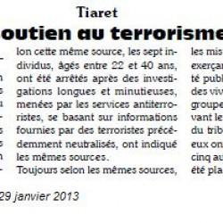 Tiaret : Un réseau de soutien au terrorisme démantelé par El-Houari Dilmi