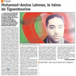 Mohamed-Amine Lahmar, le héros de Tiguentourine