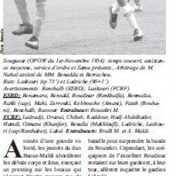 ESB Dahmouni 0 – FCB Frenda 2 Une victoire salutaire