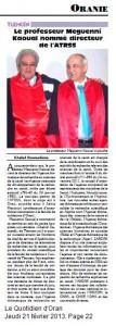 TLEMCEN: Le professeur Meguenni Kaoual nommé directeur de l'ATRSS par Khaled Boumediene dans AIN Dzarit megguenni-107x300