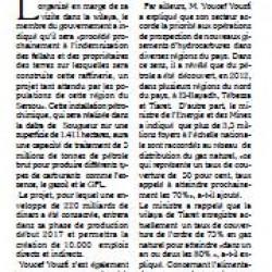 Youcef Yousfi : «La raffinerie de Tiaret opérationnelle en 2017» par El-Houari Dilmi
