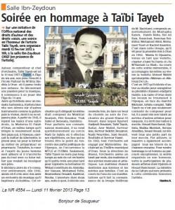 Salle Ibn-Zeydoun Soirée en hommage à Taïbi Tayeb dans NOUVELLE REPUBLIQUE (LA ) taibi-tayeb-249x300