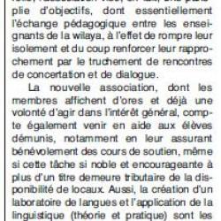 L'Association des enseignants des langues est née
