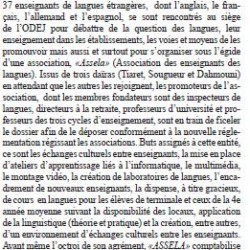 LANGUES ÉTRANGÈRES LES ENSEIGNANTS S'ORGANISENT