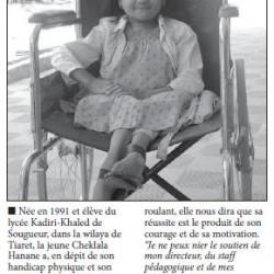 Handicapée physique et dialysée, elle décroche son bac