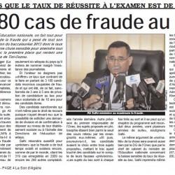 Alors que le taux de réussite à l'examen est de 44,78% 3 180 cas de fraude au bac