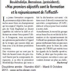 IRBS Boukhdidja Benaïssa (président):