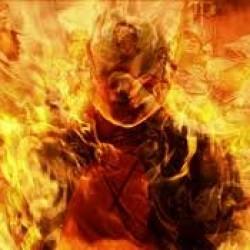 Un homme tente de s'immoler par le feu par E. H. D.