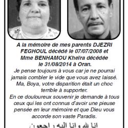 Pensées Djezri Feghoul- Madame Benhamou Kheira